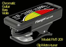 Chormatic, guitar, bass, violin tuner, metro-tuner with colorful LCD