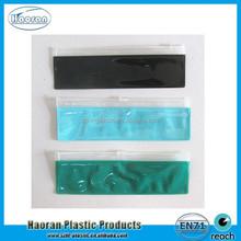 School supplies zip lock plastic bag various colors