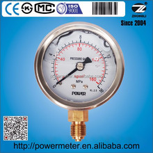 cmc pressure gauge china suppliers stainless steel case brass connection lower mount 160 kg