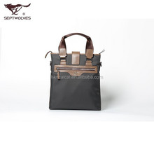 Septwolves Brand Casual Business Leather Bag for Men