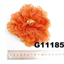 artificial flower hair ornament with brooch pin,hair clip and elastic band
