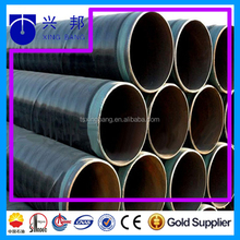 large diameter spiral petroleum steel pipe with pe wrapping and epoxy painting