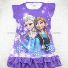 las niñas 2014 nighties congelados los niños congelados pijamas