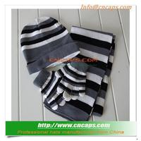 New Design All In One Knitted Scarf Hat