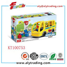 Christmas gift toys new products high good quality plastic bus intelligent toy building block DIY toy bricks set learning blocks