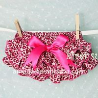 Baby Hot Pink Leopard COTTON Ruffles Bloomers BSO5C