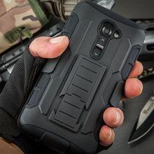 For LG G2 D802 D805 D801 D800 D803 LS980 Future Armor Impact Holster Shockproof Hard Case for LG Optimus G2 Back Cover + Gift
