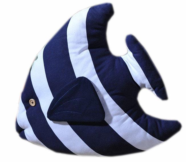 Fish shaped pillow view fish shaped pillow nautical for Fish shaped pillow