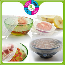 FDA food grade Microwave safe use Leakproof silicone rubber bowl cover
