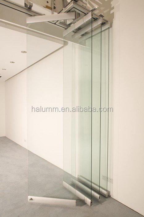 Demountable Glass Operable Partition For Shopping Mall