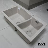 Kitchen Decoration Quartz Stone white undermount Sink
