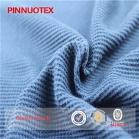 2015 Hot wholesale cheap cotton polyester weft knitted single jersey fabric waffle weave cotton fabric fine cotton knit fabric