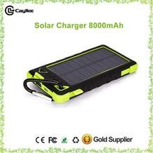 waterproof solar power bank,power bank solar charger 8000mah for mobilephone