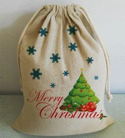 Flexible MOQ factory direct sales organic cotton bag for christmas gift