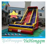 2015 new design PVC material giant inflatable slide dry cheap slide for sale