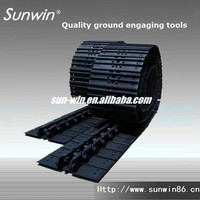 Crawler excavator track shoes, EX400 excavator steel track sealed and greas track shoes assembly