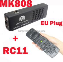 2014 Wholesale MK808B Bluetooth Dual Core mini pc android 4.2 TV dongle RC12 Wireless 2.4GHz Air Mouse Keyboard