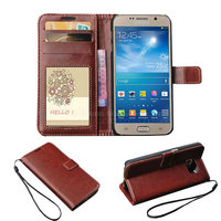 Crazy Horse Grain PU Mobile Cover For Samsung Galaxy S6 Phone Leather Case