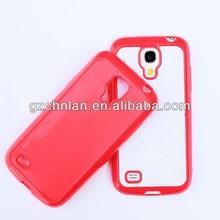 Red 3D sublimation case for Samsung galaxy s4 sublimation cell phone cases