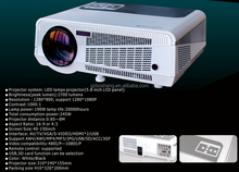 Business & education 3D LED DLP 2700 lumens video projector china factory