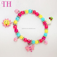 best design girls favorate resin butterful sun shape handmade tennis bead bracelet