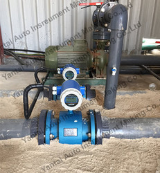 16bar pressure and 120C temperature electromagnetic flow meter can be connected with PLC or computer