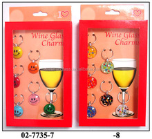 small glass ball with smiling face for red wine decoration