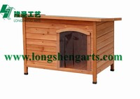 Wooden dog kennel