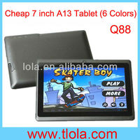 Cheap Q88 MID Tablet PC 7 inch A13 with WIFI Camera