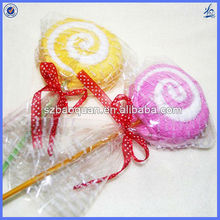 decorative handmade lollipop shape towel cake