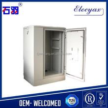 """Stock status galvanized iron 19"""" equipment rack with air conditioning/temperature control metal enclosure/18U outdoor cabinet"""