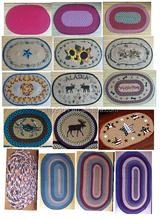 100% Natural jute fiber braided printed pattern welcome mat or rug