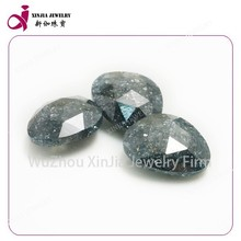 fat triangle shape black ice cubic zirconia gems