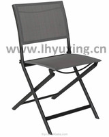 aluminium folding garden sling chair outdoor foldable bistro textile chair