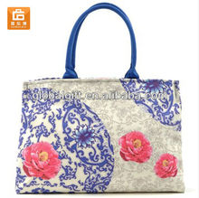 Elegant Chinese Style Canvas Tote Bags Wholesale