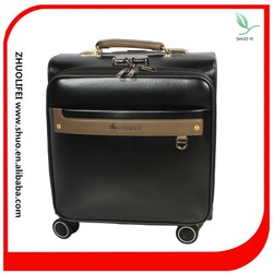 elegant pu synthetic leather men&women light weight sky travel luggage in baodingbaigou