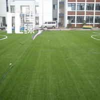 latex backing football artificial grass for sale