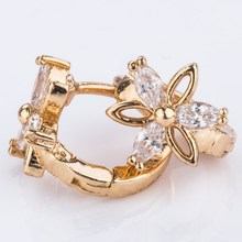 Copper latest artificial alloy cover ear slimming earrings
