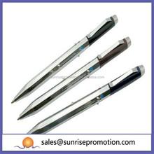 Triple Function Lighted Metal Pressed Pen