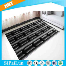Hand tufted grey modern design bamboo carpet