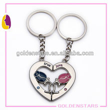 Broken heart keyrings metal ornaments
