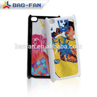 High quality blank PC sublimation phone case for touch4 with metal sheet