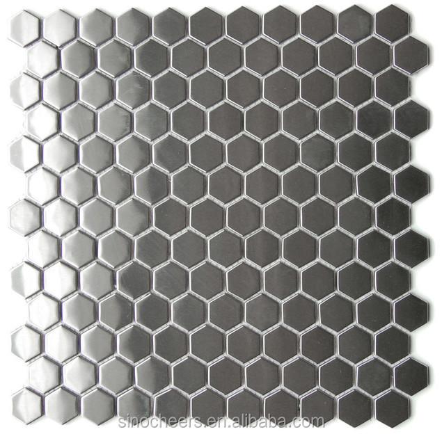 silber edelstahl mosaik fliesen k che backsplash fliesen metall mosaik mosaik produkt id. Black Bedroom Furniture Sets. Home Design Ideas