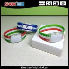 National flags silicone bracelet for different countries