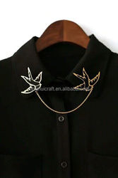 Pretty Bird Brooch, Swallow Double Collar Pin, Lapel Pin Manufacturers China