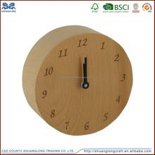 Chian supplier luxury executive antique decorative solid wood bedside clock, desk clock