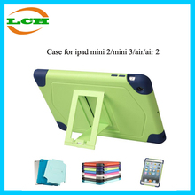 New arrival 2 in 1 silicon with stand for ipad mini smart case for ipad2/3/4/5