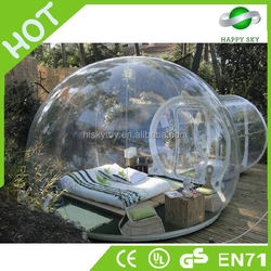 2015 durable and popular 0.8-1.0mm PVC/TPU bubble tent, camping tent transparent, inflatable tent