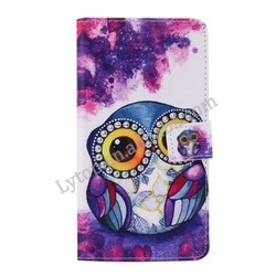 Wholeslae Book Style Animal Colorful Painting PU Leather Cell Phone Case For Samsung Galaxy Note 4