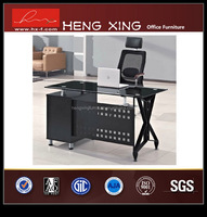 High quality elegant leather glass executive desk